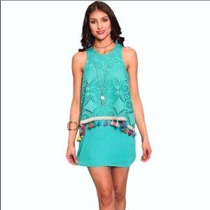 Ivy Jane Dress Turquoise Tassel Dress